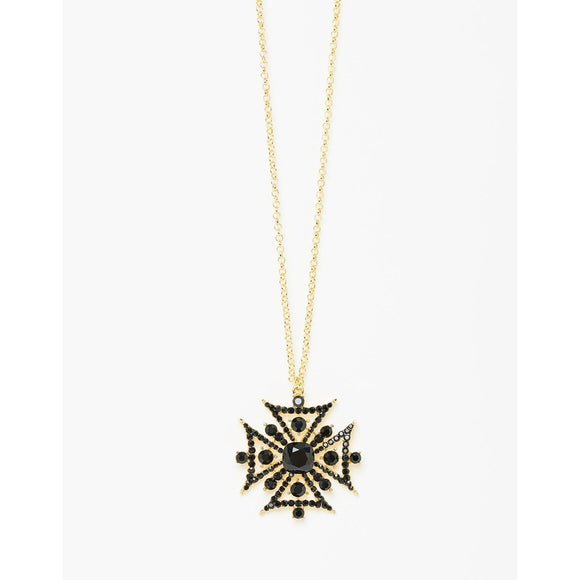 Majesty Necklace Gold Black - Fashionista Style