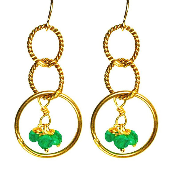 'Twisted Links' Charm Earrings - Fashionista Style