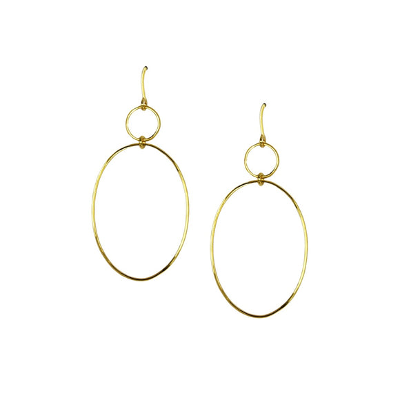 Gold Double Hoop Earrings - Fashionista Style