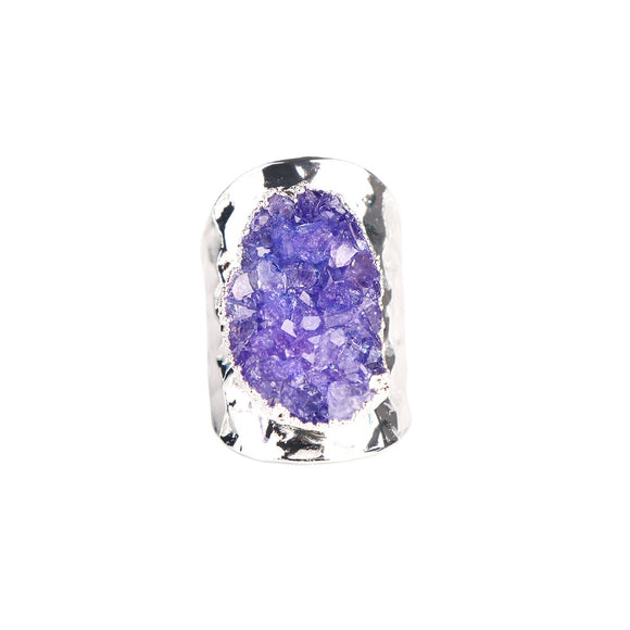 MAGNOLIA PURPLE DRUZY RING