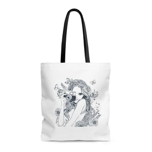 Camera Girl Tote Bag