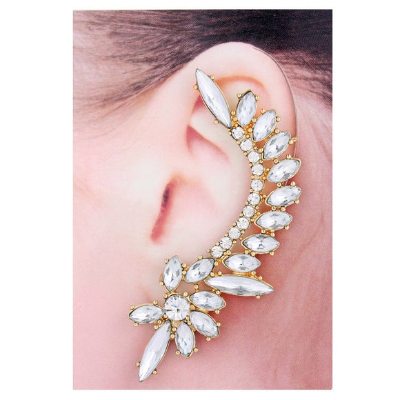 Gold & Clear Vintage Style Ear Cuff - Fashionista Style