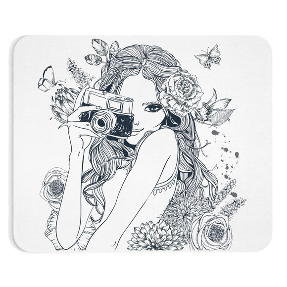 Camera Girl Mousepad - Fashionista Style