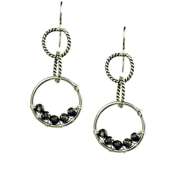 'Twisted Links' Earrings - Fashionista Style