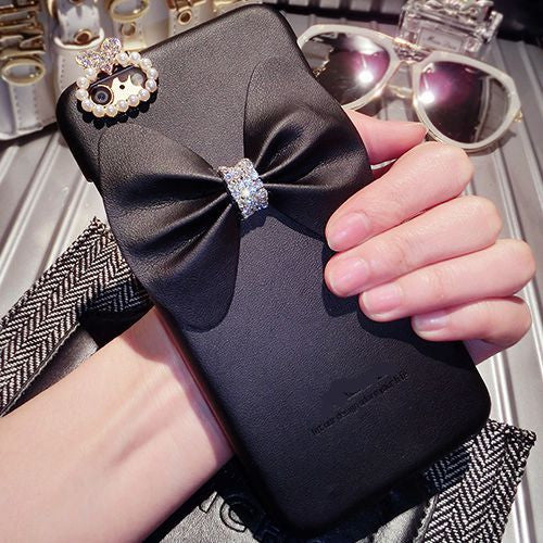 One In A Million Luxury Bow Faux Leather iPhone Case - Fashionista Style
