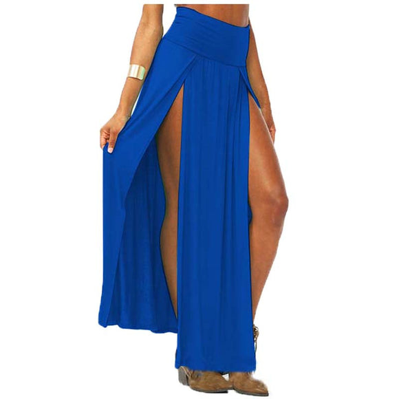 Sway With Me High Waist Double Side Split Long Skirt - Fashionista Style