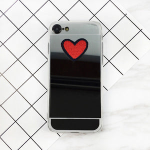Vanity Mirror Red Heart iPhone Case - Fashionista Style