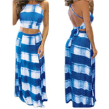 Free Spirit Halter Crop Tops & Long Skirt  2-Piece Set - Fashionista Style