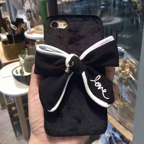 Chauffer Driven Faux Fur Bow iPhone Case - Fashionista Style