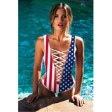 Ocean Surprise One Piece Strappy Bandage Swimsuit - Fashionista Style