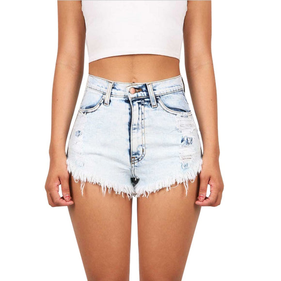 Party Girl High Waist Stretch Denim Shorts