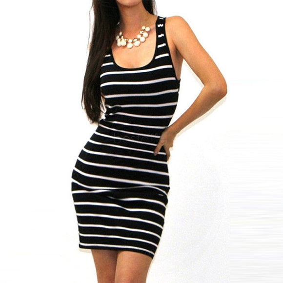 Watch Me Striped Tank Dress - Fashionista Style