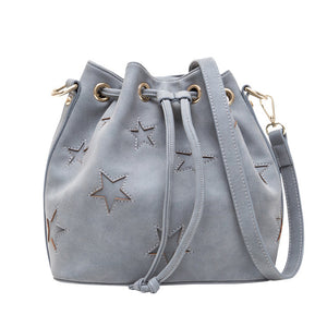 All Stars Stitched Bucket Shoulder Bag - Fashionista Style