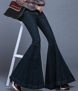 Follow Me Mid Waist Vintage Bell Bottom Jeans - Fashionista Style