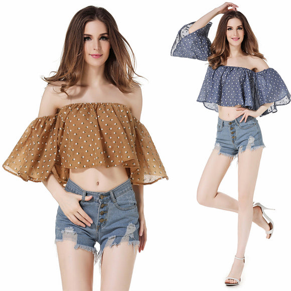 Butterfly Boho Women Off The Shoulder Top