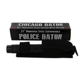 "Chicago 21"" Hardened Steel Baton - Black"