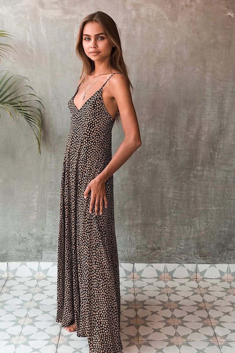 VERADO MAXI DRESS - RANGER BLACK