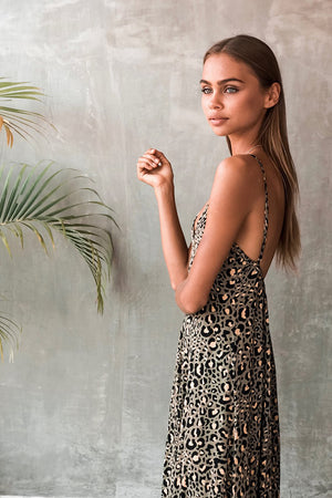 VERADO MAXI DRESS - SAFARI OLIVE