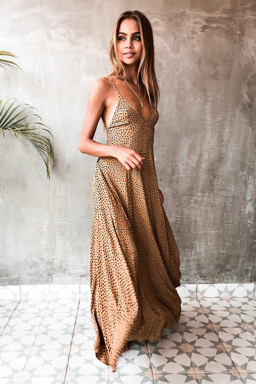VERADO MAXI DRESS - RANGER GOLD
