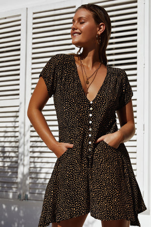CORAZON DRESS - BLACK PEBBLE