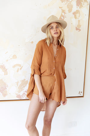 TULUM TOP - CARAMEL