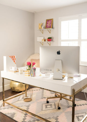 desk styling dixieland monogram