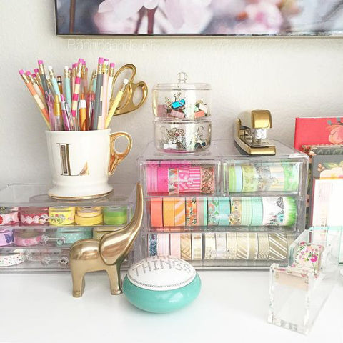 stylish desk organization