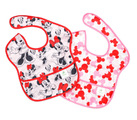 Bumkins Super Bib 2 Pack-Minnie Mouse - Dixieland Monogram