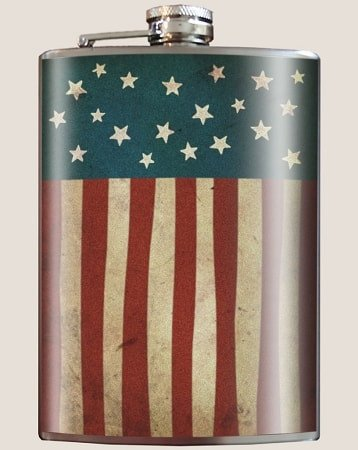 Old Glory Flask - Dixieland Monogram