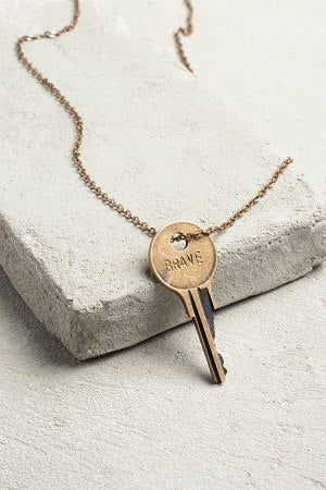 The Giving Keys Classic Necklace-Various Metal Options - Dixieland Monogram