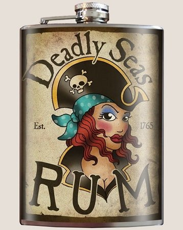 Deadly Seas Rum Flask - Dixieland Monogram