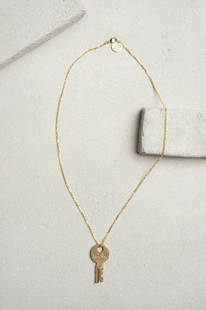 The Giving Keys Dainty Necklace - Dixieland Monogram