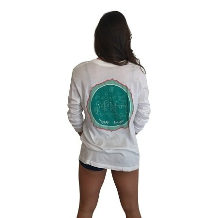 If it isn't monogrammed Is it even yours Long Sleeve Pocket Tee-White - Dixieland Monogram