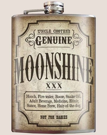 Moonshine Flask - Dixieland Monogram