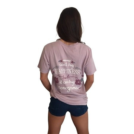 Monograms are Happiness Short Sleeve Pocket Shirt-Lovely Lavender