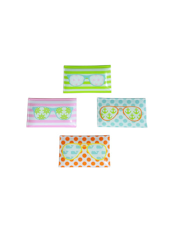 Fun in the Sunglasses Trinket Tray-Various Colors - Dixieland Monogram