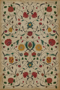 Spicher & Company Williamsburg Floral Abigail Vinyl Floor Cover