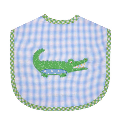 Three Marthas Blue Gator Bib Large