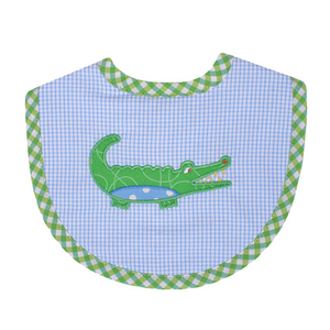 Three Marthas Blue Gator Bib Medium