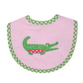 Three Marthas Pink Gator Bib Medium