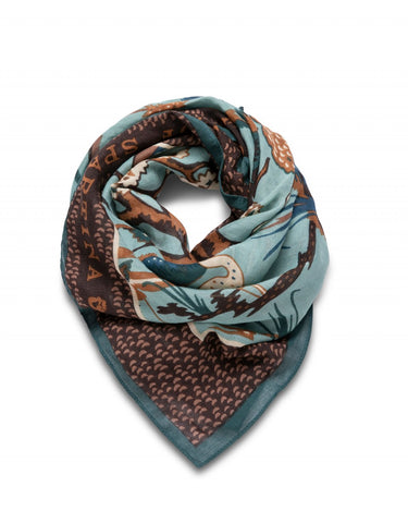 Low Country Toile Square Scarf
