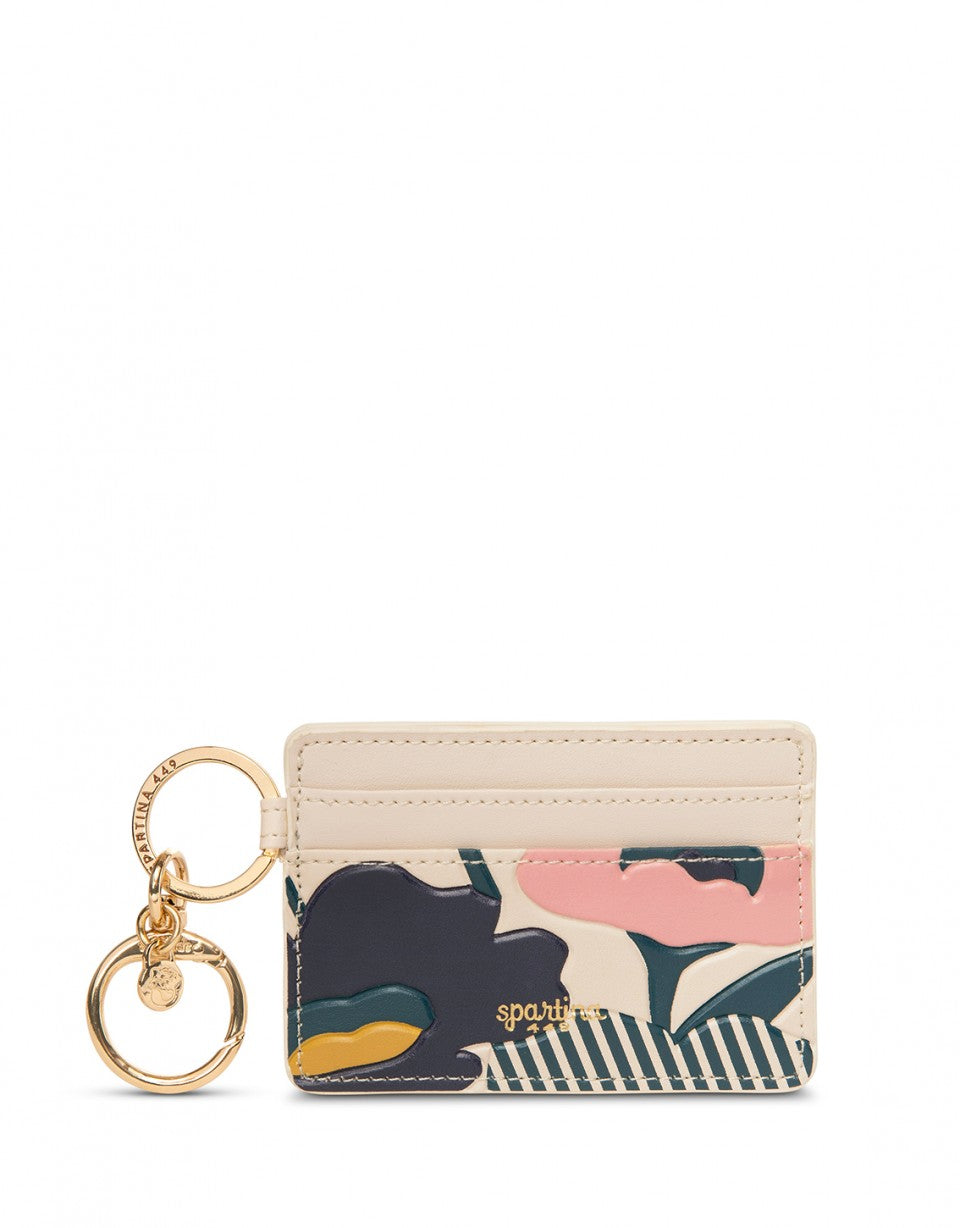 Tidalholm Floral Leather Key Chain Card Holder