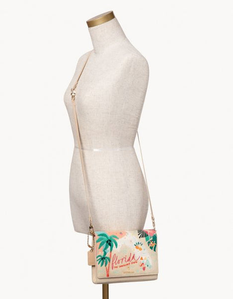 FLORIDA EMBROIDERED CONVERTIBLE CROSSBODY