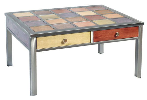Venezia Furniture two drawer coffee table handmade in America