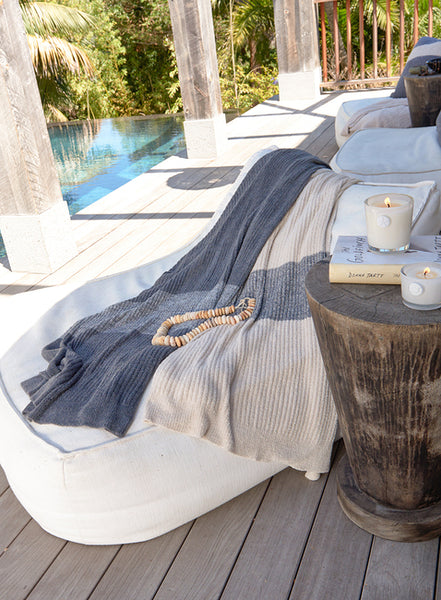 Barefoot Dreams Cozy Chic Throw Ribbed Blanket