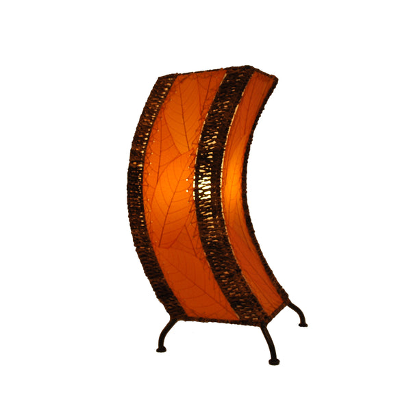 Eangee Wave Series C Table Lamp Orange Gold