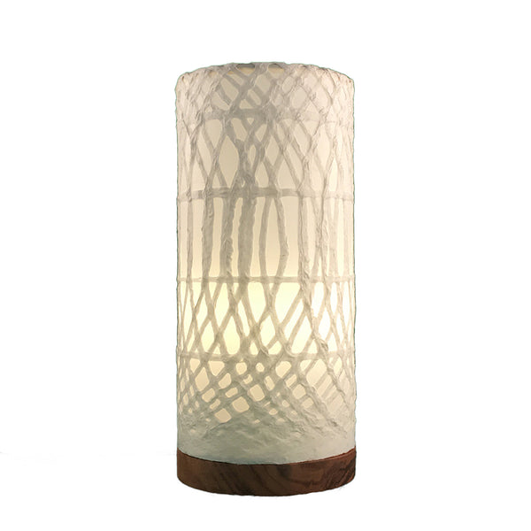 Eangee Table Lamp Paper Cylinder White
