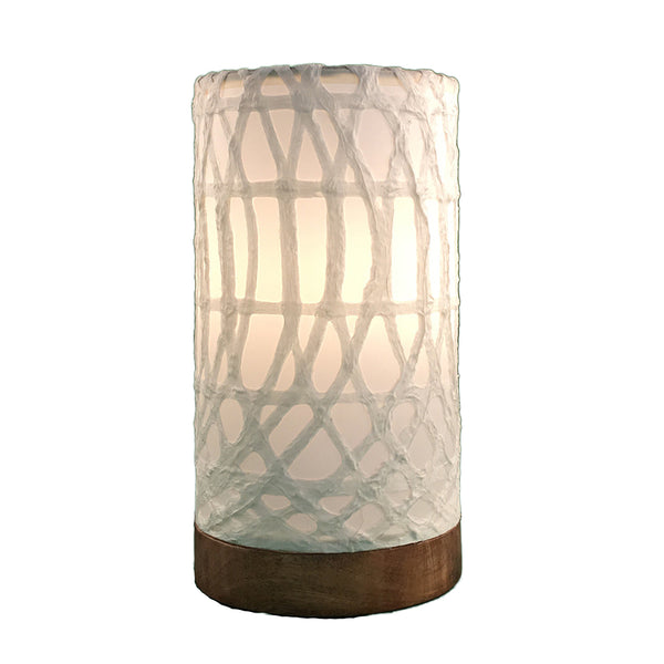Eangee Mini Lamp Paper Cylinder White