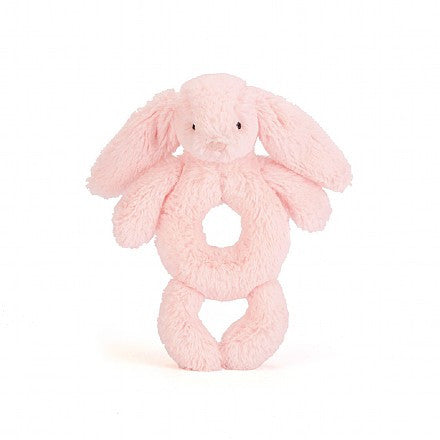 JellyCat Bashful Ring Rattle Pink