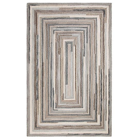 Company C Concentric Rug Gray